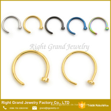 Assorted Nasenstecker Ringe 316L Chirurgenstahl Nase Hoop Ring