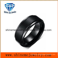 Profissional Customized Black Plated Good Quality Tungsten Ring