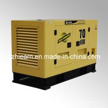 Grupo silencioso de generador de poder diesel refrigerado por agua (GF2-70KW)