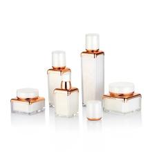 15ml 30ml 50ml airless square gold UV painting toner bottle for lotio cosmetic spray bottle