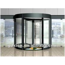 Porte tournante en cristal automatique