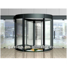 Porta giratória automática de cristal