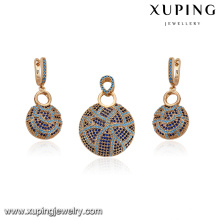64146 2017 turkish gold plated jewelry fashion pretty earring and pendant gold plated jewelry sets