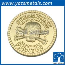 2015 brindes promocionais lembrança moeda de ouro, coleção de moedas, fundição de moedas