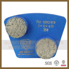 3 Hole 2 Round Diamond Segments Floor Finishing Grinding Disc