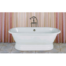 Double Ended Bathtub With Pedestal Base