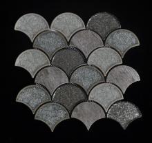 Copo de porcelana de cor escura da telha misturada Mosaic