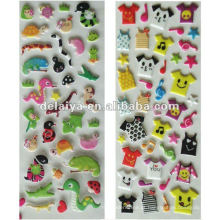 Promotion cartoon animal custom Puffy sticker