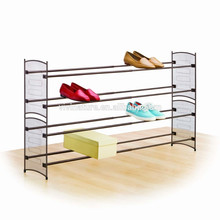 mesh metal frame shoes rack