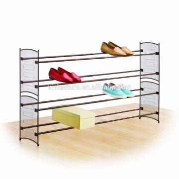 estante de zapatos del marco metálico de la malla