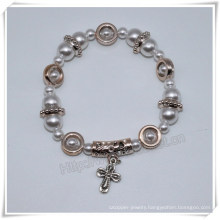 Newest Plastic Beads Bracelets, Catholic Bracelet with Cross (IO-CB175)