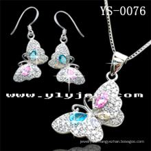 Colorful Silver Jewellery Set for Ladies (YS-0076)