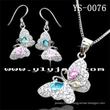 Красочные серебряные ювелирные изделия Набор для женщин (КПС-0076)