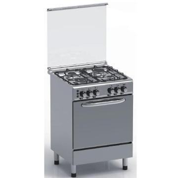 Estufa de gas de acero inoxidable completo 4 con horno a gas