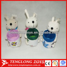 Best gifts for children cute animal toy rabbit plush pencil holder