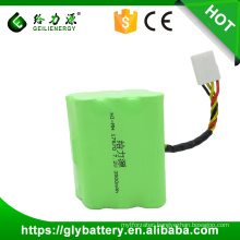 Custom wholesale 3500mah 7.2 volt ni-mh rechargeable battery pack for vacuum cleaner
