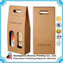 Hohe Qualität Rundrohr Wein Geschenkbox Verpackung Großhandel