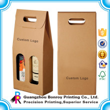 Emballage en gros de boîte-cadeau ronde de tube de vin de qualité