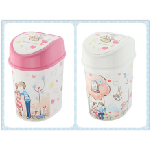 Korean Style Cartoon Flip-on Trash Bin (FF-5234)