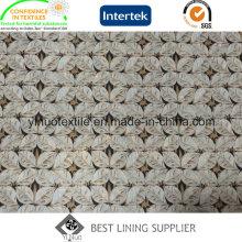 Doublure d'impression de polyester de sergé de 260t 260t pour le tissu