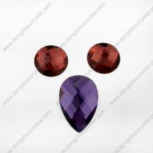 Venta caliente de lujo colorida decorativa redonda piedra de vidrio