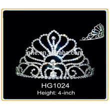 fashion party tiara hair accessories flowers tiara royal crown silver watches pink princess tiara