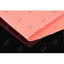 Двусторонняя красная ткань с силиконовым покрытием из стеклоткани