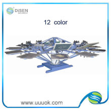 Руководство 12 цветов ротационная трафаретная печатная машина