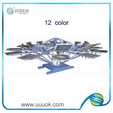 Manual 12 color rotary screen printing machine