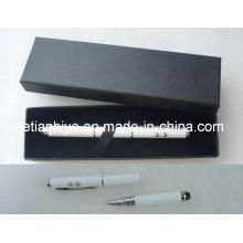 Caneta multifuncional com toque para iPhone, Laser e luz LED (LT-C415)