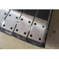 Guide rail for elevator door with fish plate