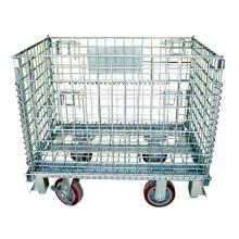 Cage de stockage pliante en acier mobile