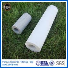 Tubo de filtro de cerámica poroso para el tratamiento de aguas