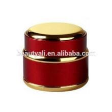 Tarro de crema de vidrio Tarro de cosmética y oro de plata Tarro de cristal de aluminio