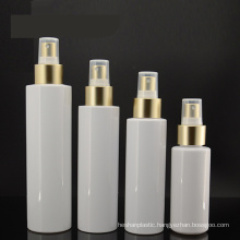 100ml White Pet Bottle with Golden Pump and Golden Disc Cap