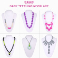OEM+design+simple+silicone+baby+teething+necklace