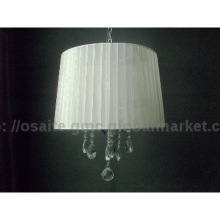 modern clear crystal hanging lamp for home