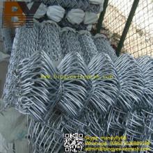 Feuerverzinkter galvanisierter Diamant-Metallzaun