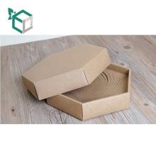 Regalo de encargo al por mayor de la caja de la forma del hexágono del papel de Kraft del proveedor de China que empaqueta para el té chino