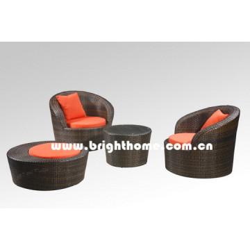 Único sofá rattan móveis de jardim de vime bg-106