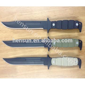 Нож выживания с фиксированным клинком и ручкой G10