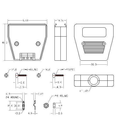 DBZES-36XX0 4 D-SUB METAL HOODS,36P,Straight,ETHERNET TYPE