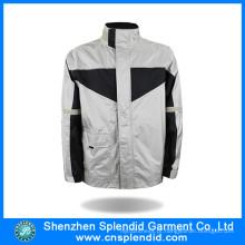 China atacado Inverno Fleece ao ar livre motocicleta casaco branco com zíper