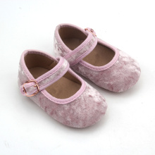 Plush Upper Girls Dress Shoes Ballet