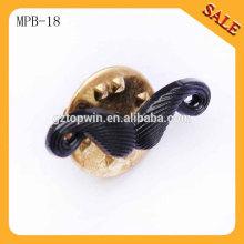 MPB18 perno de la plata del metal de la venta al por mayor 3D, insignia del perno de fundición, perno del collar para el lazo