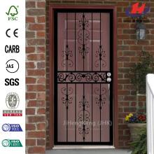 409 Series Spanish Lace Steel Black Prehung Security Door