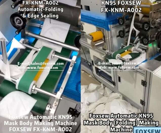 1Automatic KN95 Folding Mask Body Making Machine