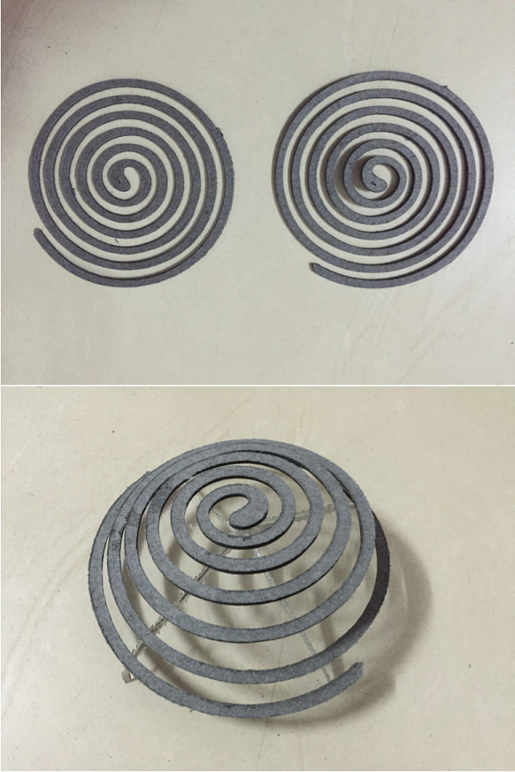 Paper mosquito coil Direction 2
