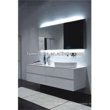 Estilo europeo y nuevo diseño blanco brillo pintura MDF baño vanidad