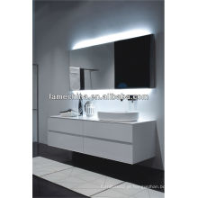Estilo europeu e design novo White Gloss Painting MDF Bathroom Vanity